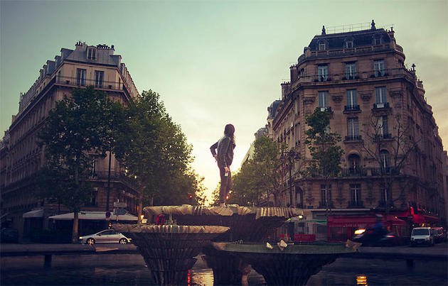 Hipsters in Paris, France