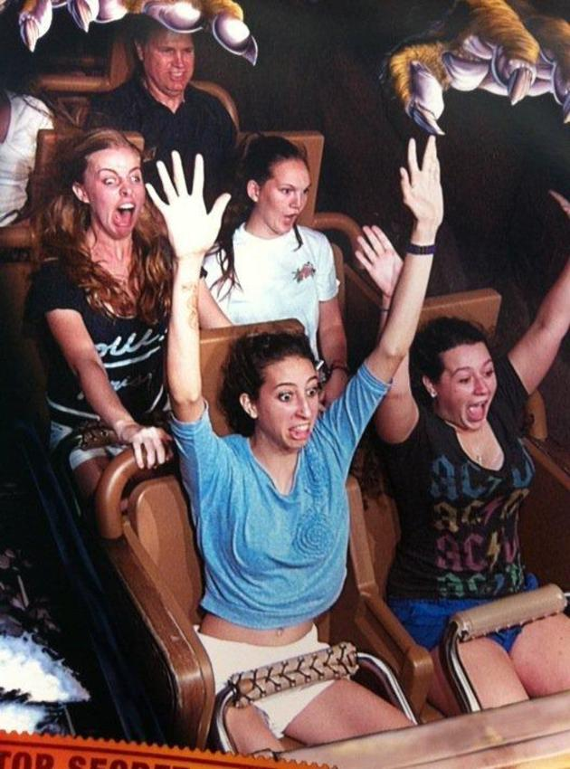 funny rollercoaster face