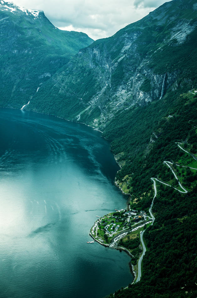 Geiranger fjord and Eagle Road, Norway