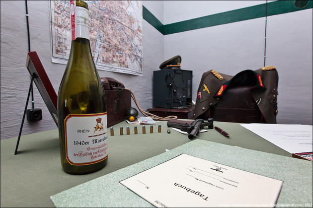 Wine bottle on the desk