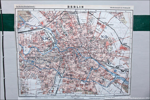 The map of Berlin during its final days