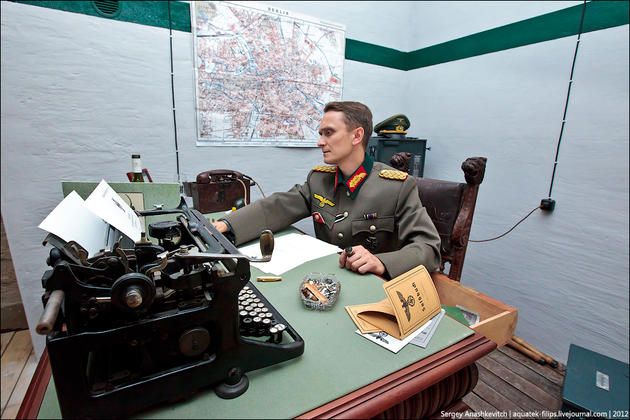 General at his desk