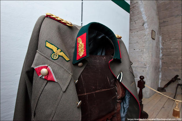 A military jacket of the general, olive drab colour