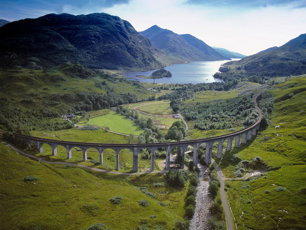 Viaduct in Glenfinnan, Lochaber, Highland, Scotland.