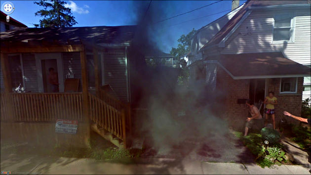 House on Fire Google Maps