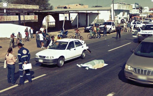 Dead body Streetview Google Maps