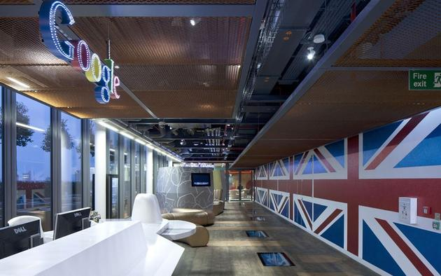 Google Office british flags