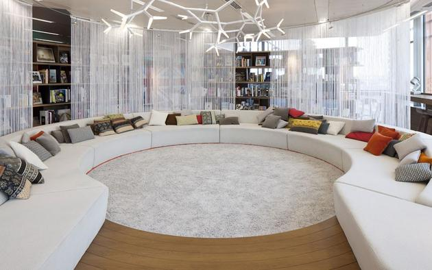 The round room at the google office