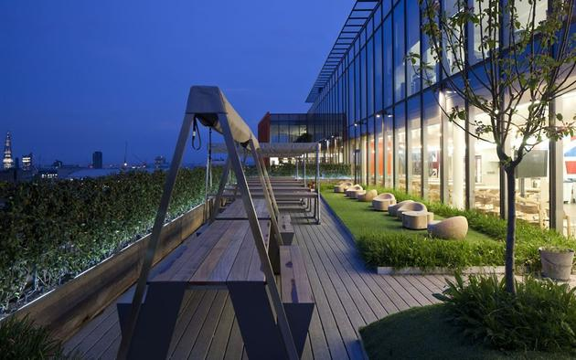 Google office outdoor area on the roof