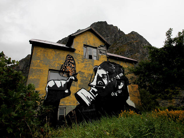 Graffiti by shadow artist Pobel