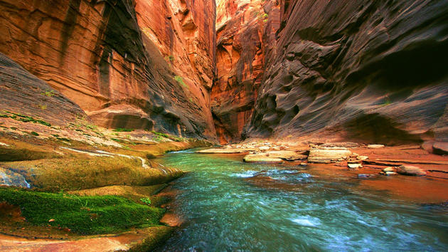 River Bed in the Grand Canyon HD Background