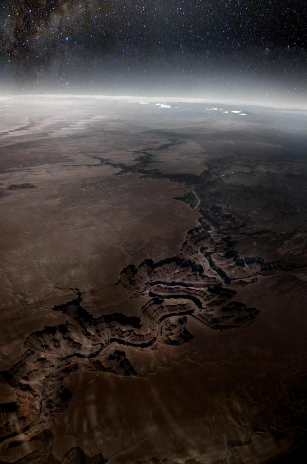 Grand Canyon aerial shot