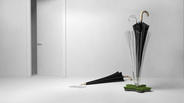 Green eco umbrella stand