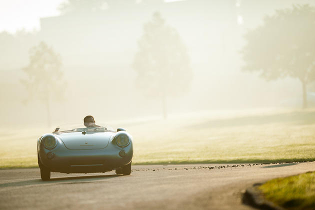 Porsche Spyder Old style photo