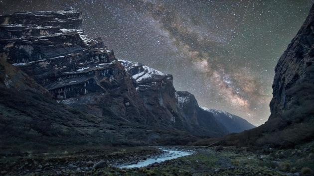 Himalayas and Milky Way