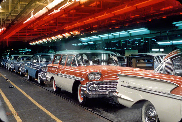 Chevrolet assembly line 1958