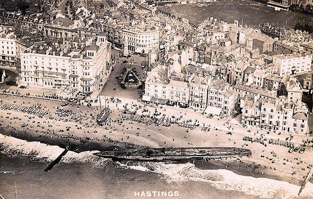 German Uboat Washed up in Hastings