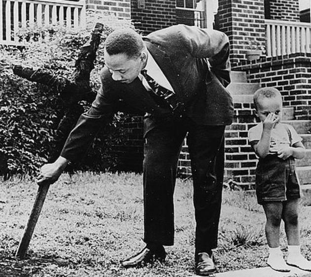Martin Luther king and his son