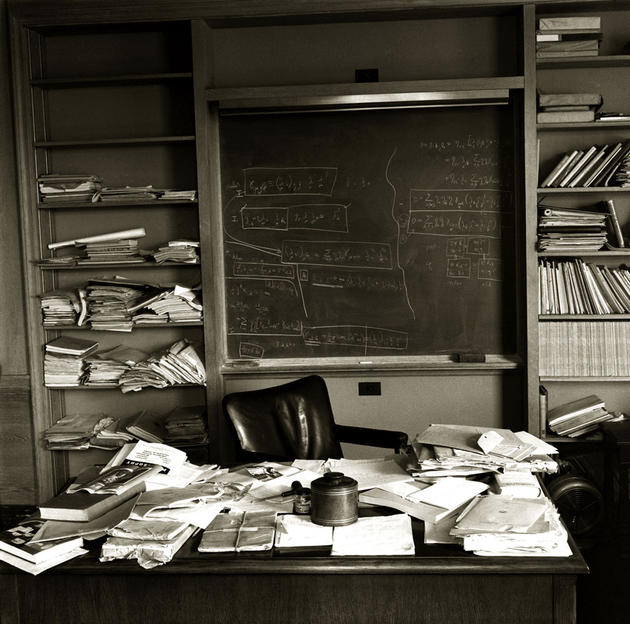 Albert Einstein's Desk on the day of his Death