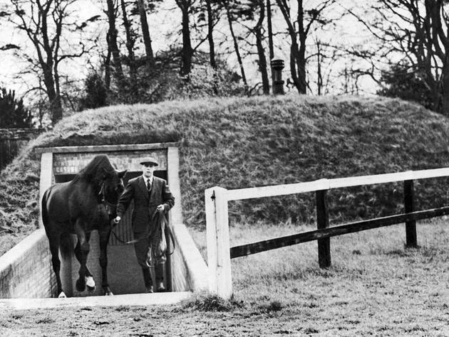A bunker designed for a racing stallion England 1940
