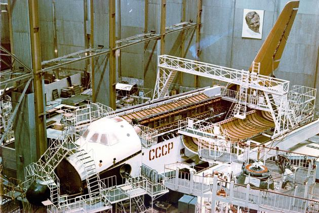 Buran under construction, Soviet Space program