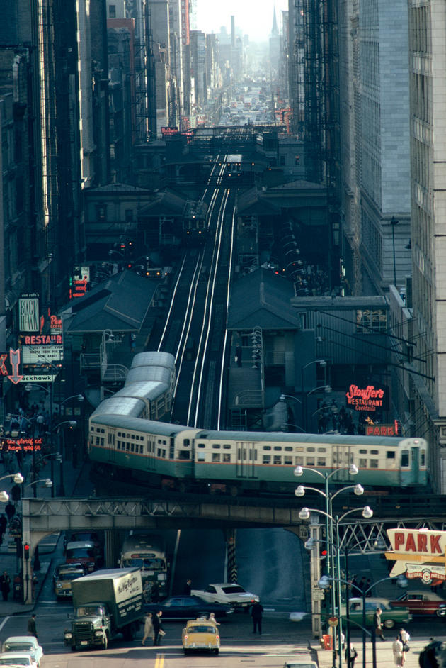 The Chicago L train Old Photo 1967