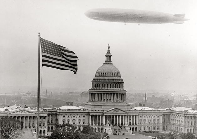 Graf Zeppelin over Washington DC in 1928