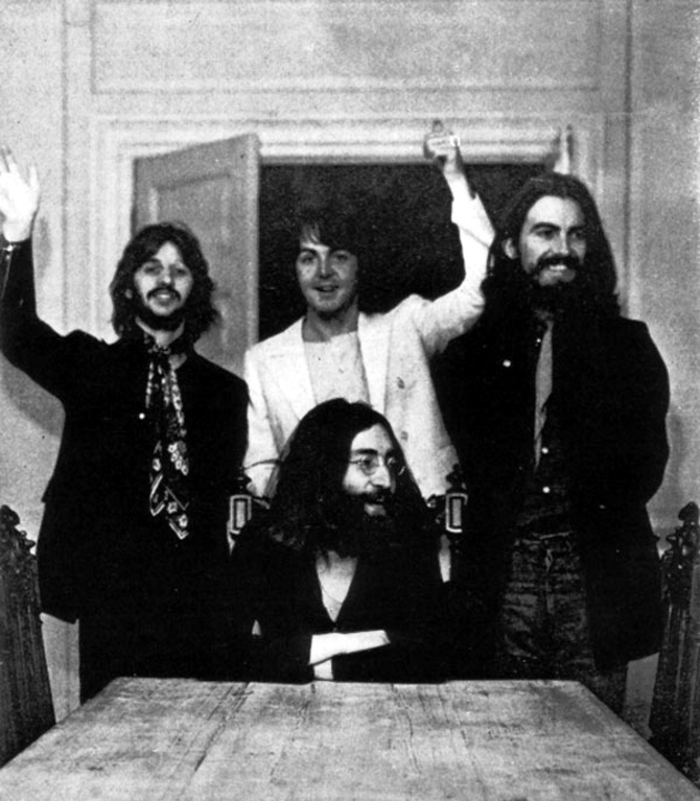 The last photo off all four Beatles together