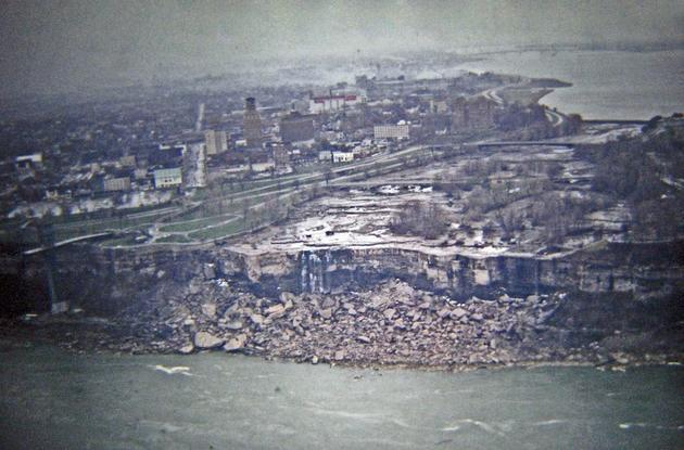 Niagara Falls stopped for maintenance in 1969