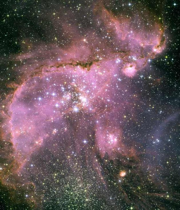 Small magellanic Cloud young Stars