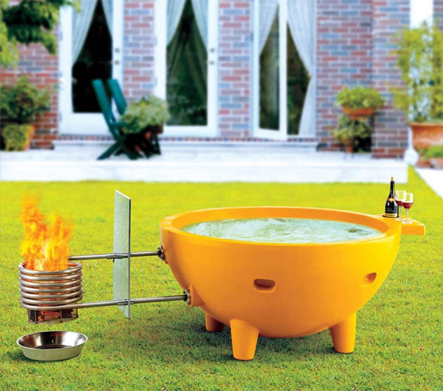 Buy a fire powered hot tub online