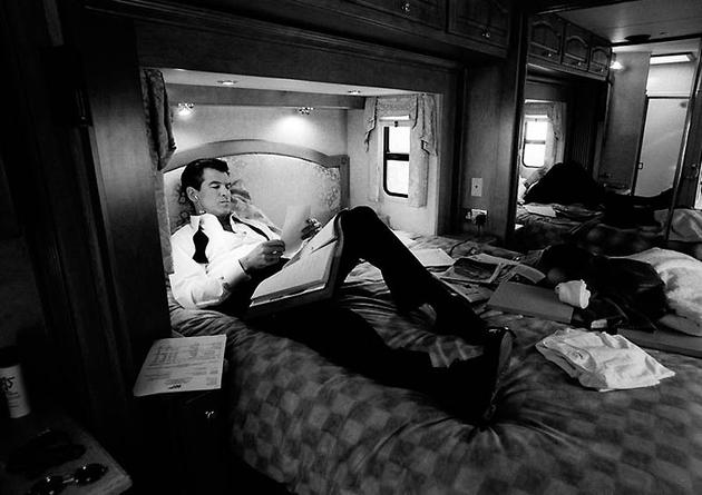 Pierce Brosnan resting