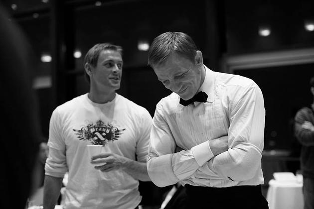 Daniel Craig on set of 007 James Bond