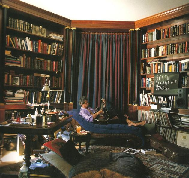 Keith Richards Private Study Room