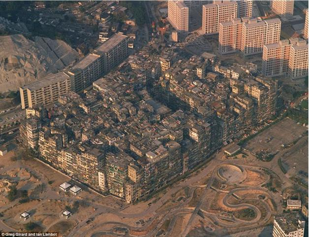 Kowloon Walled City Air View