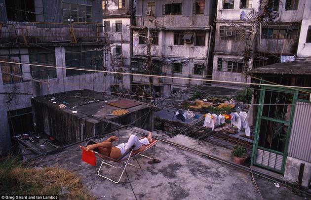 Rooftops of Kowloon Walled City