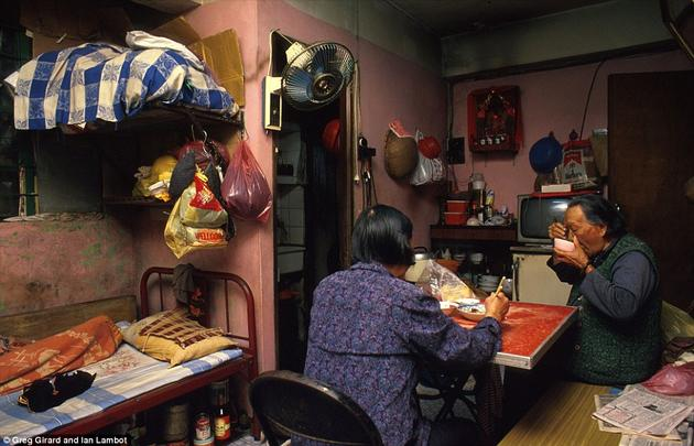 A living space of two elderly people in Kowloon