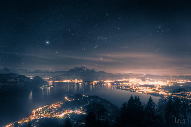 Lake lucerne and Orion in Switzerland