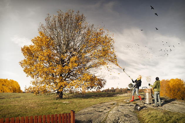 Helping fall by Erik Johansson