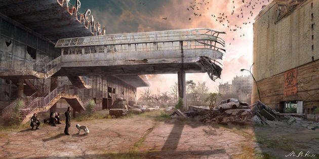 Post apocalypse airport terminal
