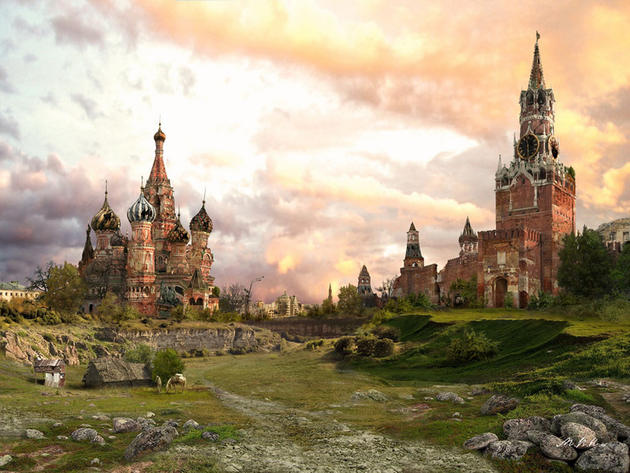Summer Post apocalypse red square