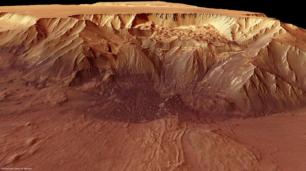 Back view of the Melas Chasma Valley