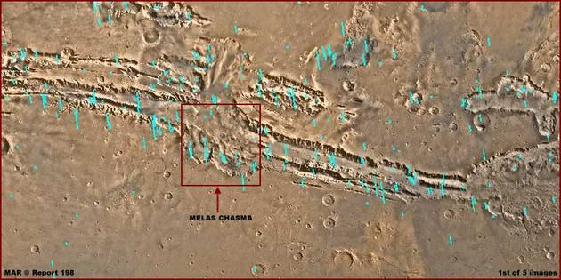 View of the Melas Chasma Valley from Space