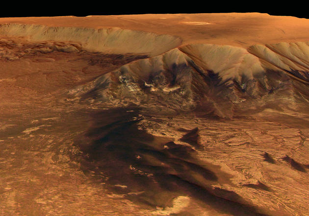 The overview of the melas chasma on mars