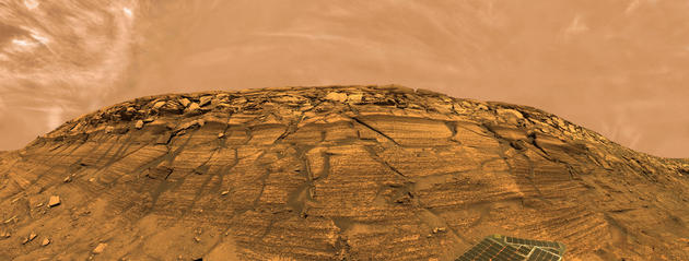 Mars Opportunity rover landscape