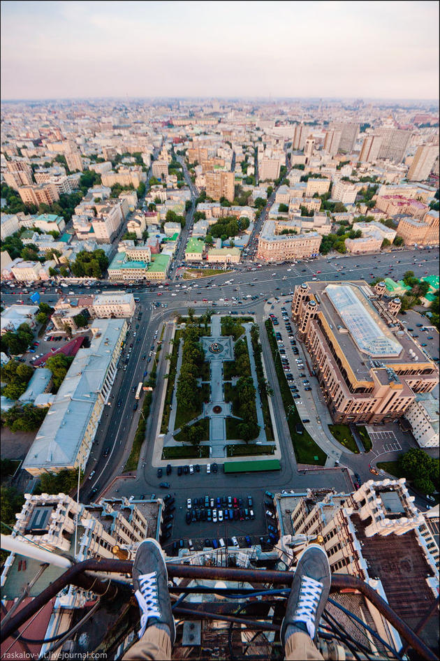 View of the square below
