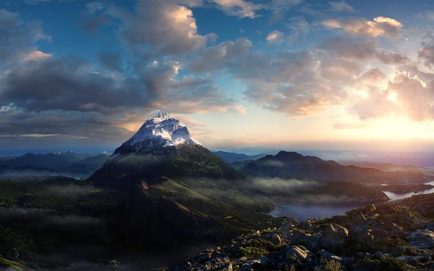 Mountain Peak HD Wallpaper for Mac and PC, Linux too! LOL