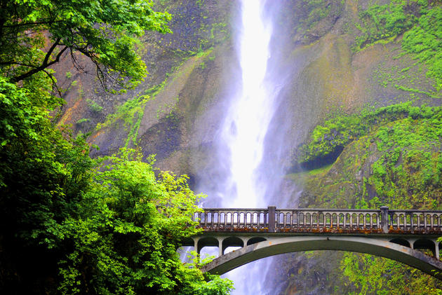 Bridge at Multnomah Falls by Tanner Stephenson