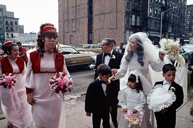Puerto Rican wedding in East Harlem, 1970.