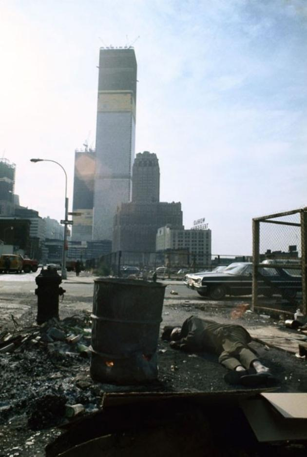 World Trade Center under construction, Manhattan, 1970.